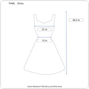 THML Dresses - THML Berry and White Dress